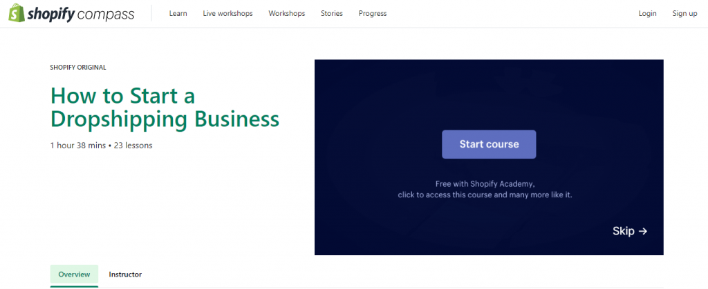 Dropshipping free online courses
